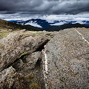 Clouds below Mount Evans in Colorado, USA.