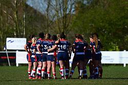 Bristol Ladies team talk - Mandatory by-line: Dougie Allward/JMP - 26/03/2017 - RUGBY - Cleve RFC - Bristol, England - Bristol Ladies v Wasps Ladies - RFU Women's Premiership