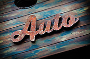 Image of a patina Auto sign in Orange County, California, America west coast by Randy Wells