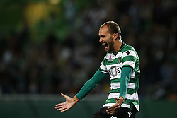 October 22, 2017 - Lisbon, Portugal - Sporting's forward Bas Dost celebrates his second goal  during Primeira Liga 2017/18 match between Sporting CP vs GD Chaves, in Lisbon, on October 22, 2017. (Credit Image: © Carlos Palma/NurPhoto via ZUMA Press)