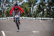 #5 (CHRISTENSEN Simone Tetsche) DEN during practice at round 1 of the 2018 UCI BMX Supercross World Cup in Santiago del Estero, Argentina.
