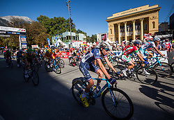 PARET PEINTRE Aurelien of France, PEAK Barnabas of Hungary in finish area during the Men Under 23 Road Race 179.9km Race from Kufstein to Innsbruck 582m at the 91st UCI Road World Championships 2018 / RR / RWC / on September 28, 2018 in Innsbruck, Austria.  Photo by Vid Ponikvar / Sportida