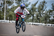 #85 (HATAKEYAMA Sae) JPN during practice at round 1 of the 2018 UCI BMX Supercross World Cup in Santiago del Estero, Argentina.