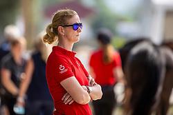 SAYN-WITTGENSTEIN Nathalie zu (Nationaltrainer DEN)<br /> Vet-Check U25 Reiter<br /> Pilisjászfalu - FEI Youth Dressage EUROPEAN CHAMPIONSHIPS 2020<br /> 17. August 2020<br /> © www.sportfotos-lafrentz.de/Stefan Lafrentz