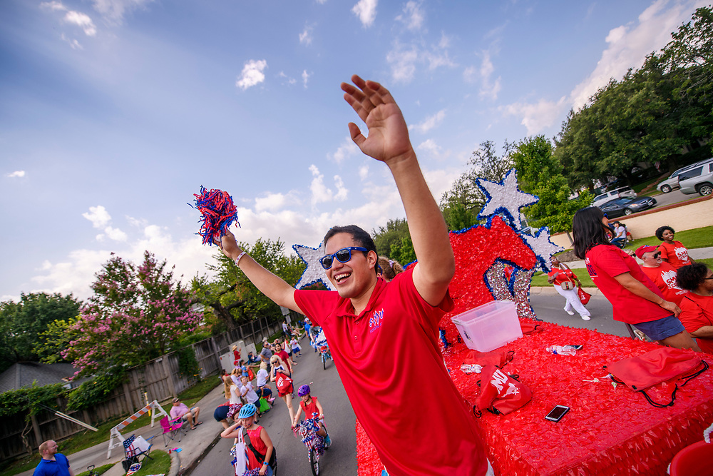 Students, Faculty, Staff and the SMU Community participate in the Park Cities Fourth of July Parade, Thursday, July 4, 2019.