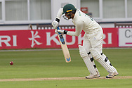 Hassan Azad batting during the Specsavers County Champ Div 2 match between Leicestershire County Cricket Club and Derbyshire County Cricket Club at the Fischer County Ground, Grace Road, Leicester, United Kingdom on 27 May 2019.