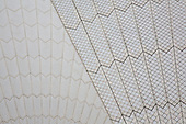 Abstract images of the tiled chevron pattern on the roof Sydney Opera House, Australia