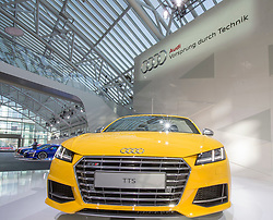 10.03.2015, Audi Forum, Ingolstadt, GER, AUDI AG Jahrespressekonferenz, im Bild Auid TTS auf der Buehne // during AUDI AG Annual Press Conference at the Audi Forum in Ingolstadt, Germany on 2015/03/10. EXPA Pictures © 2015, PhotoCredit: EXPA/ Eibner-Pressefoto/ Strisch<br /> <br /> *****ATTENTION - OUT of GER*****