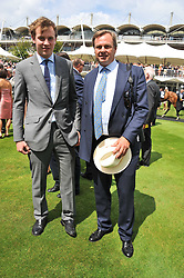 Left to right, the EARL OF MEDINA and his father the MARQUESS OF MILFORD-HAVEN at the 3rd day of the 2011 Glorious Goodwood Racing Festival - Ladies Day at Goodwood Racecourse, West Sussex on 28th July 2011.