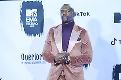 November 4, 2018 - Madrid, Madrid, Spain - Terry Crews poses in the press room during the 25th MTV EMAs 2018 held at Bilbao Exhibition Centre 'BEC' on November 5, 2018 in Madrid, Spain (Credit Image: © Jack Abuin/ZUMA Wire)