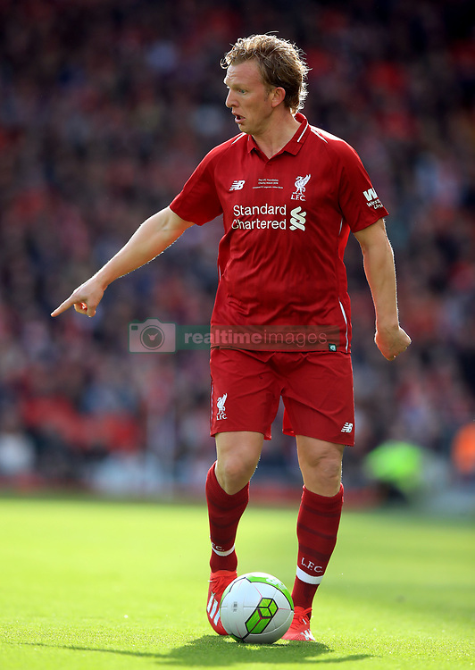 Liverpool's Dirk Kuyt during the Legends match at Anfield Stadium, Liverpool.