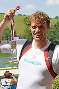 Lucerne, Switzerland. GBR  M1X Alan CAMPBELL Silver Medalist, Men's Single Sculls. 2010 FISA World Cup. Lake Rotsee, Lucerne.  14:02:06   Sunday  11/07/2010.  [Mandatory Credit Peter Spurrier/ Intersport Images]