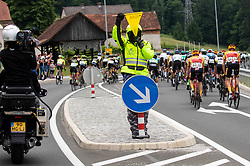 Security during 1st Stage of 27th Tour of Slovenia 2021 cycling race between Ptuj and Rogaska Slatina (151,5 km), on June 9, 2021 in Slovenia. Photo by Vid Ponikvar / Sportida
