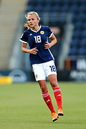 Claire Emslie (#18) of Scotland during the FIFA Women's World Cup UEFA Qualifier match between Scotland Women and Belarus Women at Falkirk Stadium, Falkirk, Scotland on 7 June 2018. Picture by Craig Doyle.