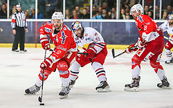 04.04.2014, Eisarena, Salzburg, AUT, EBEL, EC Red Bull Salzburg vs HCB Suedtirol, Finale, best of five, 1. Spiel, im Bild Dave Meckler, (EC Red Bull Salzburg, #55), Marco Insam, (HCB Suedtirol, #8) und Rick Schofield, (HCB Suedtirol, #9) // during the 1st match of the final best of five round of the the Erste Bank Icehockey League Playoff between EC Red Bull Salzburg and HCB Suedtirol at the Eisarena in Salzburg, Austria on 2014/04/04. EXPA Pictures © 2014, PhotoCredit: EXPA/ Roland Hackl