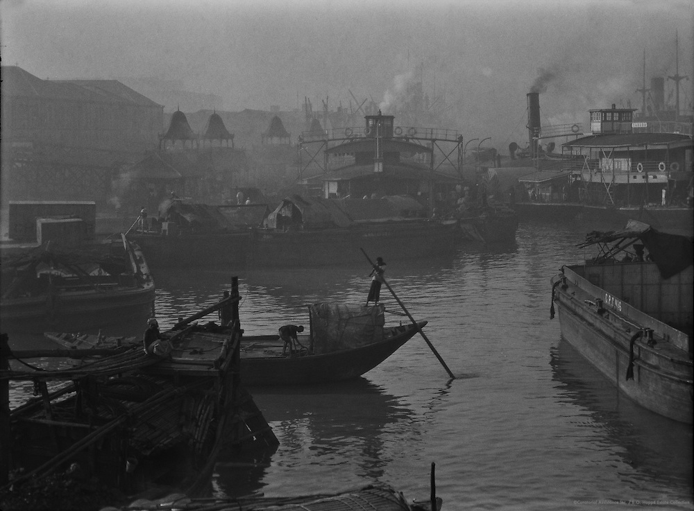 Barges at Howrah Bridge, Calcutta, !929