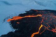 Erupting volcano in Geldingadalir, Iceland 2021