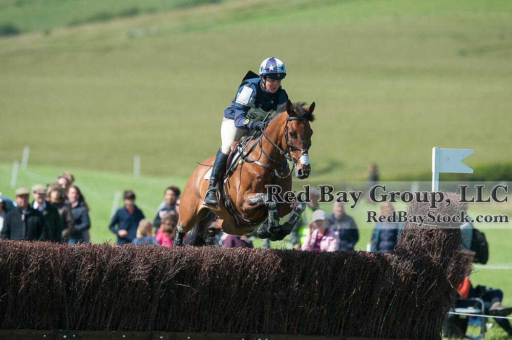 Lucy Wiegersma and Simon Porloe at the Barbury International Horse Trials, Marlborough, Wiltshire, UK.
