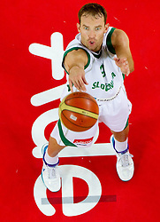 Samo Udrih of Slovenia during friendly basketball match between National teams of Slovenia and Montenegro of Adecco Ex-Yu Cup 2011 as part of exhibition games before European Championship Lithuania 2011, on August 7, 2011, in Arena Stozice, Ljubljana, Slovenia. Slovenia defeated Crna Gora 86-79. (Photo by Vid Ponikvar / Sportida)