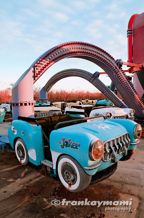 The Joker's Jukebox ride at the abandoned Six Flags theme park in New Orleans East.