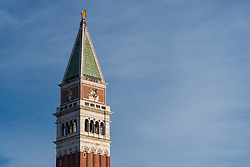 Views of St Mark's Campanile in Venice. From a series of travel photos in Italy. Photo date: Monday, February 11, 2019. Photo credit should read: Richard Gray/EMPICS