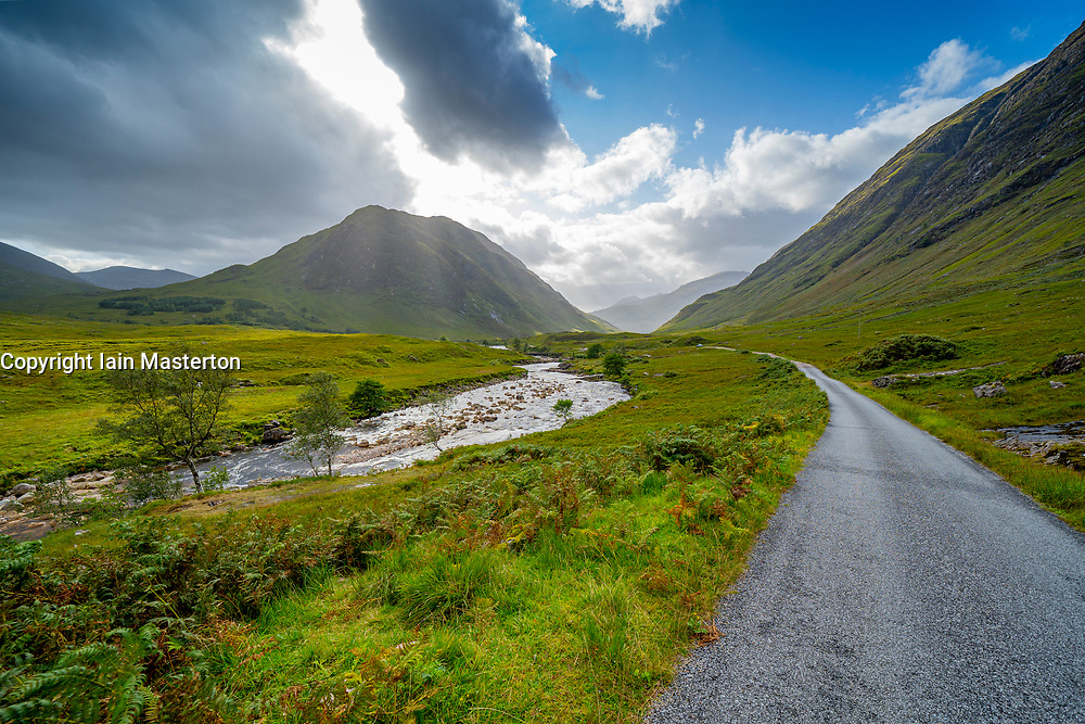 View of  Glen Etive, Highland Region, Scotland, Uk