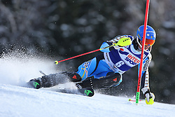 06.01.2014, Stelvio, Bormio, ITA, FIS Ski Alpin Weltcup, Salom, Herren, 1. Durchgang, im Bild Andre Myhrer (SWE) // Andre Myhrer of Sweden in action during 1st run of mens Slalom of the Bormio FIS Ski World Cup at the Stelvio Course in Bormio, Italy on 2014/01/06. EXPA Pictures © 2014, PhotoCredit: EXPA/ Sammy Minkoff<br /> <br /> *****ATTENTION - OUT of GER*****