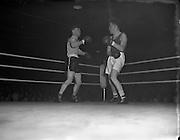 Boxing - Garda vs Yorkshire and RUC Selected at National Stadium.22/01/1954