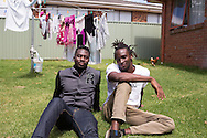 SK and his brother Charles in their backyard in Hampton Park, Melbourne, December 2015