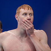 TOKYO, JAPAN - JULY 27: Tom Dean of Great Britain after winning the gold medal in the 200m freestyle for men during the Swimming Finals nat the Tokyo Aquatic Centre at the Tokyo 2020 Summer Olympic Games on July 27, 2021 in Tokyo, Japan. (Photo by Tim Clayton/Corbis via Getty Images)
