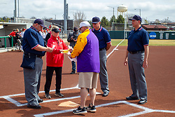 NORMAL, IL - April 06: Marc Drouillard, Melinda Fischer, Ryan Jacobs, Bryan Smith,David Lee during a college women's softball game between the ISU Redbirds and the University of Northern Iowa Panthers on April 06 2019 at Marian Kneer Field in Normal, IL. (Photo by Alan Look)