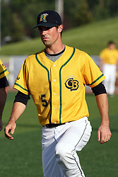 18 May 2012:  Justin Clark during a Frontier League Baseball game between the Windy City Thunderbolts and the Normal CornBelters at Corn Crib Stadium on the campus of Heartland Community College in Normal Illinois