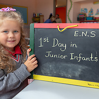 Maisy O'Neill on her 1st Day at Ennis National School