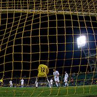 Hungary's league soccer team loosing 5:2 against the team of AC Milan.