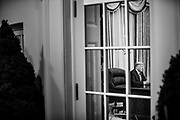 President Donald Trump address the nation on the novel coronavirus from the Oval Office in Washington, D.C. on February 11, 2020.