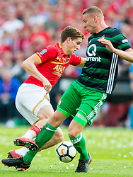 Lucas Woudenberg of Feyenoord, Sven van Beek of Feyenoord during the Dutch Toto KNVB Cup Final match between AZ Alkmaar and Feyenoord on April 22, 2018 at the Kuip stadium in Rotterdam, The Netherlands.