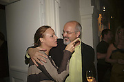 Stella McCartney and Bill Viola, VIP opening of Bill Viola exhibition Love/Death: The Tristan project. Haunch of Venison, St Olave's College, Tooley St. London and Dinner afterwards at Banqueting House. Whitehall. 19 June 2006. ONE TIME USE ONLY - DO NOT ARCHIVE  © Copyright Photograph by Dafydd Jones 66 Stockwell Park Rd. London SW9 0DA Tel 020 7733 0108 www.dafjones.com