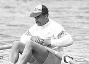 Kingston on Thames, United Kingdom.   Single Scull, M1X, Evol GRAHAM,  The final Round of the Leyland Daf Sprint series, at Kingston RC on the River Thames, Surrey, England, <br /> <br /> Saturday 04.05.1987<br /> <br /> [Mandatory Credit; Peter Spurrier/Intersport-images]
