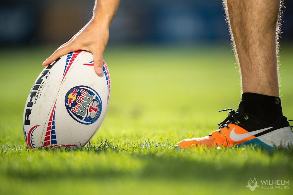 Athletes compete at Red Bull Uni 7s Rugby Qualifiers at Infinity Park in Glendale, CO, USA, on 25 August, 2016.