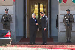 September 6, 2016 - Warsaw, Poland - President of Palestine, Mahmoud Abbas (L) and President of Poland, Andrzej Duda (R) in Warsaw, Poland on 6 September 2016  (Credit Image: © Mateusz Wlodarczyk/NurPhoto via ZUMA Press)