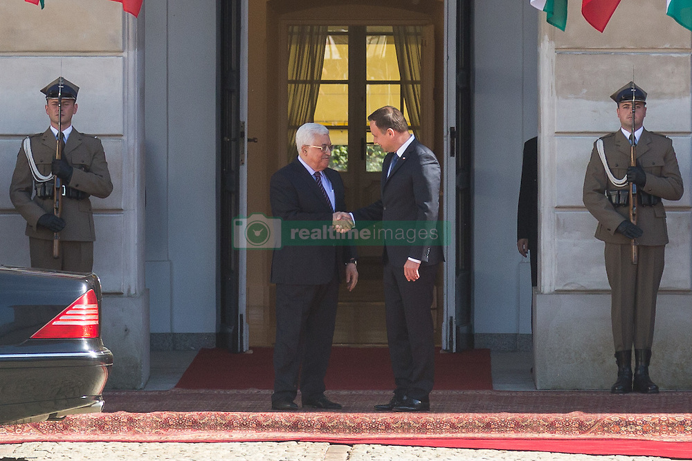 September 6, 2016 - Warsaw, Poland - President of Palestine, Mahmoud Abbas (L) and President of Poland, Andrzej Duda (R) in Warsaw, Poland on 6 September 2016  (Credit Image: © Mateusz Wlodarczyk/NurPhoto via ZUMA Press)