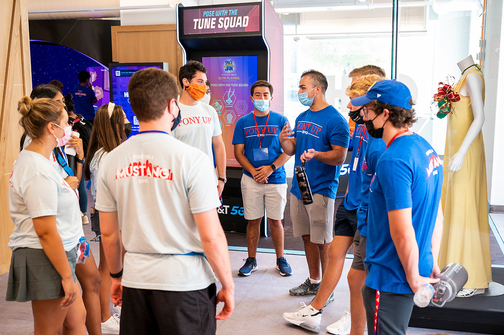 First year students tour the ATT Discovery District during Stampede's Discover Dallas, Saturday, August 21, 2021 in Downtown Dallas, Texas.