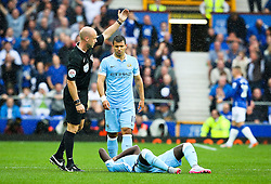 Bacary Sagna of Manchester City requires treatment - Mandatory byline: Matt McNulty/JMP - 07966386802 - 23/08/2015 - FOOTBALL - Goodison Park -Everton,England - Everton v Manchester City - Barclays Premier League