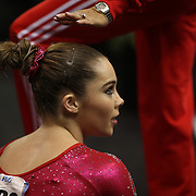 McKayla Maroney, Long Beach, California, winning the Floor Exercise during the Senior Women Competition at The 2013 P&G Gymnastics Championships, USA Gymnastics' National Championships at the XL, Centre, Hartford, Connecticut, USA. 17th August 2013. Photo Tim Clayton