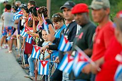 November 30, 2016 - Cuba - Cubans wait for the passage of Fidel Castro's ashes outside of Ranchuelo, Cuba on Wednesday, November 30, 2016. (Credit Image: © Al Diaz/TNS via ZUMA Wire)