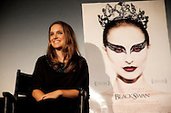 """Natalie Portman speaking about her role in the film """"Black Swan"""" during a Q and A screening at the Arclight Cinema held by The Wrap."""