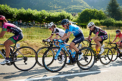 Lorena Llamas (ESP) on the first climb at La Course by Le Tour de France 2018, a 112.5 km road race from Annecy to Le Grand Bornand, France on July 17, 2018. Photo by Sean Robinson/velofocus.com