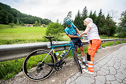 Samuele BATTISTELLA of ASTANA - PREMIER TECH during 2nd Stage of 27th Tour of Slovenia 2021 cycling race between Zalec and Celje (147 km), on June 10, 2021 in Zalec - Celje, Zalec - Celje, Slovenia. Photo by Vid Ponikvar / Sportida