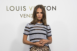 Alicia Vikander attending the Opening Of The Louis Vuitton Boutique as part of the Paris Fashion Week Womenswear Spring/Summer 2018 in Paris, France, on October 2, 2017. Photo by Alban Wyters/ABACAPRESS.COM