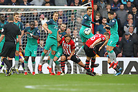 Football - 2018 / 2019 Premier League - Southampton vs. Tottenham Hotspur<br /> <br /> Southampton's James Ward-Prowse curls in a free kick to put the Saints in front at St Mary's Stadium Southampton<br /> <br /> COLORSPORT/SHAUN BOGGUST